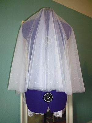 Brautschleier mit Pailletten