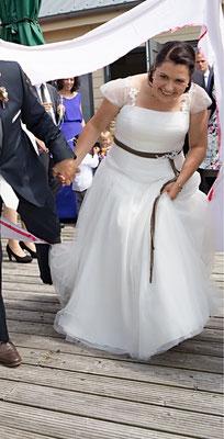 Brautgürtel mit Spitze