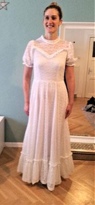 80er Jahr Brautkleid
