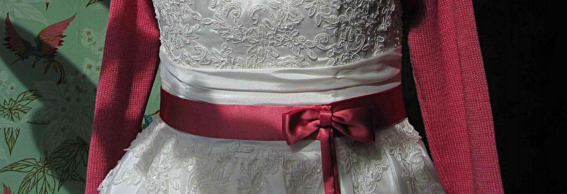 Brautgürtel Satin rosa