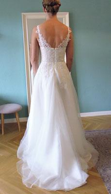 Brautkleid Spitze am Rücken