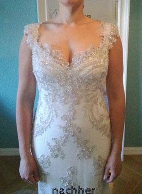 Brautkleid Träger mit Spitze