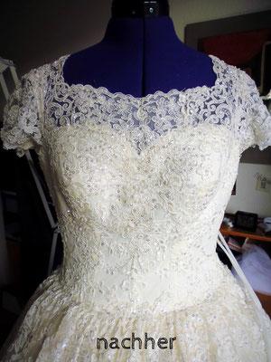 Brautkleiddekollete nachher