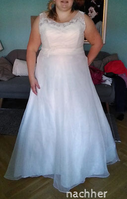 Brautkleid in Großer Größe angepasst