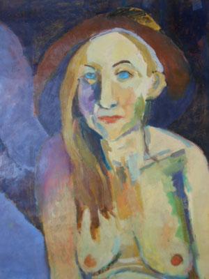 Portrait de femme au chapeau - 2013