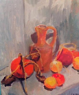 Pommes et potiron- 2016 - 55 x 46 cm