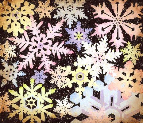 snowflake crystal F10 油彩 売約済