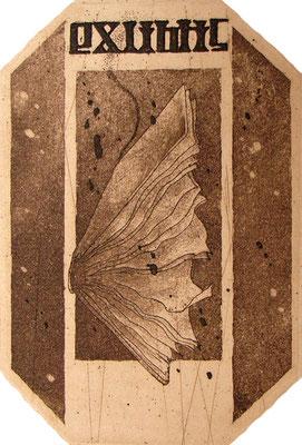 -exlibris-   digestion          90×60変形 / 腐蝕銅版画 / 2010.9.18