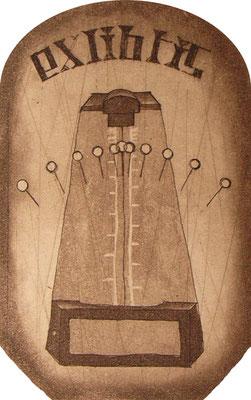 -exlibris-   metronome          90×60変形 / 腐蝕銅版画 / 2010.9.19
