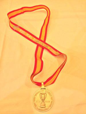 Medalla subcampeón RFEF 2019