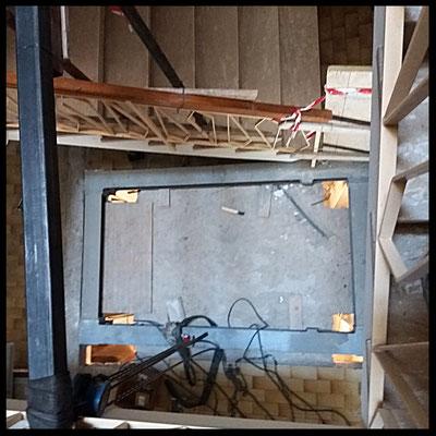 Visuale dall'alto della struttura saldata sul posto