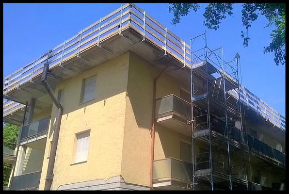 Rifacimento tetto e facciata: visione spigolo hotel