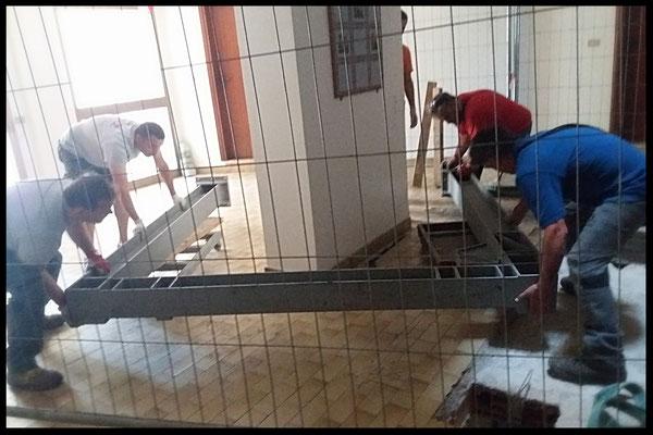 Preparazione all'installazione della struttura