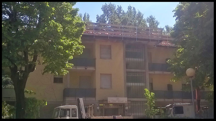 Rifacimento tetto e facciata: visione frontale dopo l'intervento