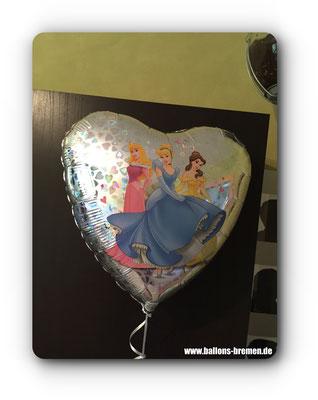 Heliumballon mit Prinsessen.
