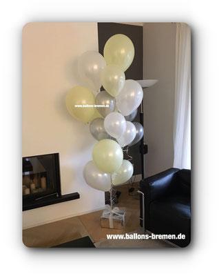 Großes Ballongeschenk mit Geld
