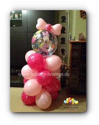Minnimaus auf Luftballonsäule