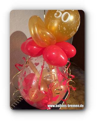 Verpackungsballon zum 50. Geburtstag