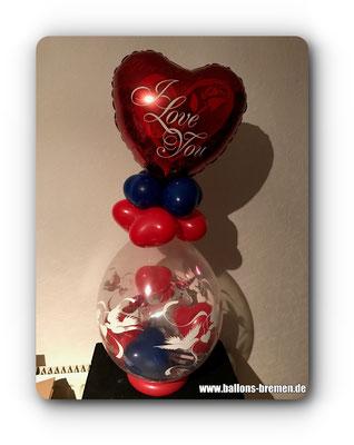 Ballonverpacker zum Valentinstag