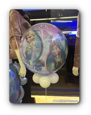 Anna und Elsa auf Luftballon