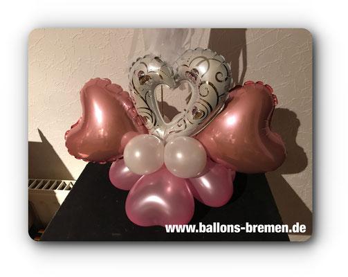 Folienherzen und Latexluftballons