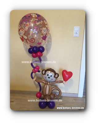 Affe aus Luftballon mit Bubble Ballon