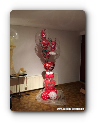 Herzen im Luftballon