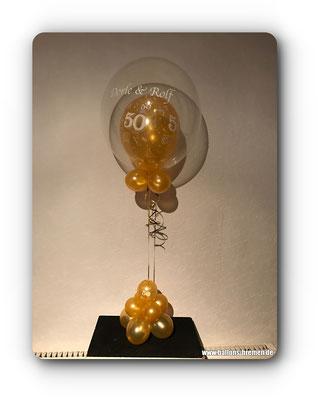 Geschenk aus Ballons zum 50. Geburtstag