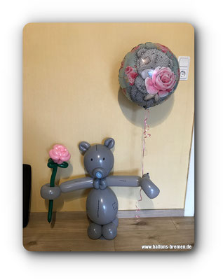 Teddy mit Luftballon