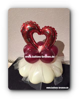 Kleines Herz aus Luftballons