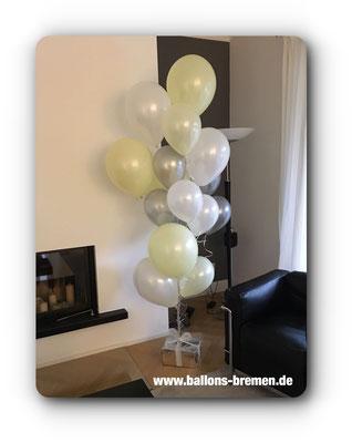 Großes Luftballongeschenk mit Heliumballons