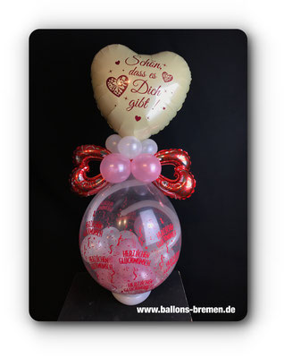 Schön dass es Dich gibt - Ballongeschenk/Verpackungsballon