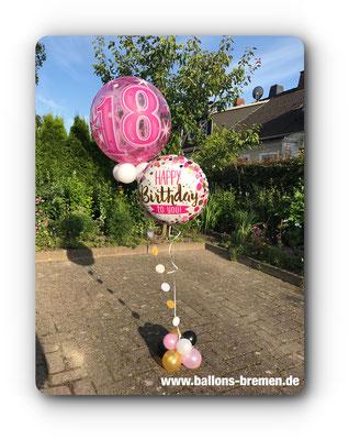 Luftballongeschenk zum 18. Geburtstag