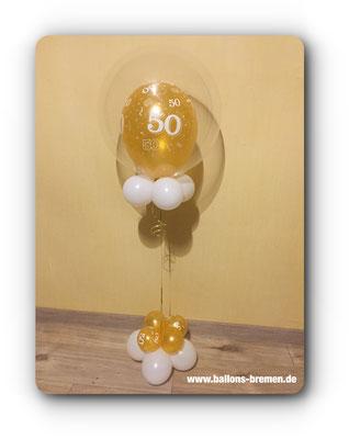Luftballongeschenk zum 50. Geburtstag