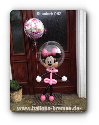 Minnimaus mit Heliumballon