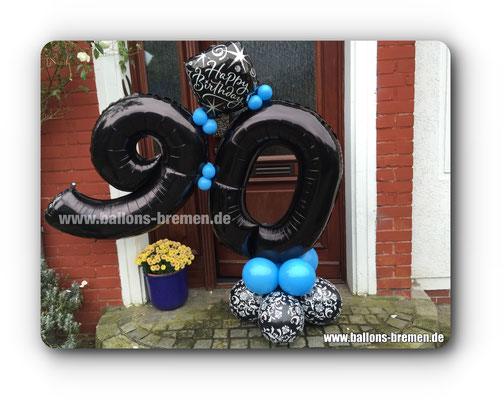 Luftballongeschenk zum 90. Geburtstag