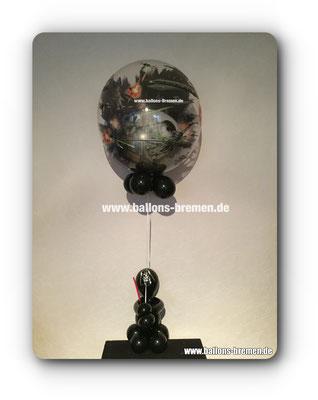 Darth Vader als Ballongeschenk mit Todesstern
