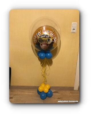 Äffchenluftballon mit reflektierender Sonnenbrille