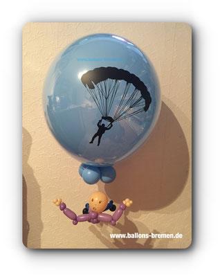 Ballongeschenk für einen Fallschirmsprung