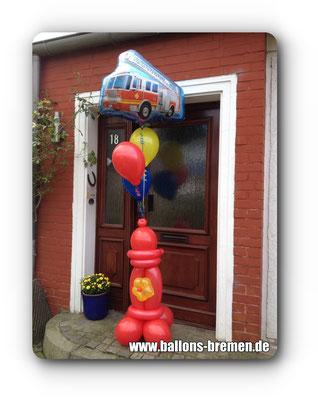 Ballongeschenk für einen Feuerwehrmann