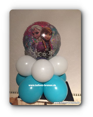 Anna und Elsa mit Glitzerballon