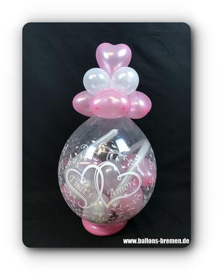 Verpackungsballon zur Hochzeit