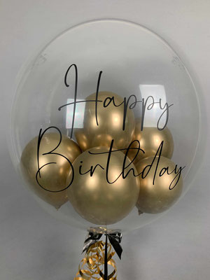 Bubble Ballon mit Helium gefüllt und Aufdruck