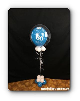 Geeschenk aus Ballons zum 60. Geburtstag