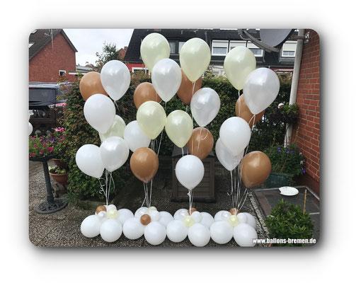 Mehrere Ballongeschenke zur Hochzeit