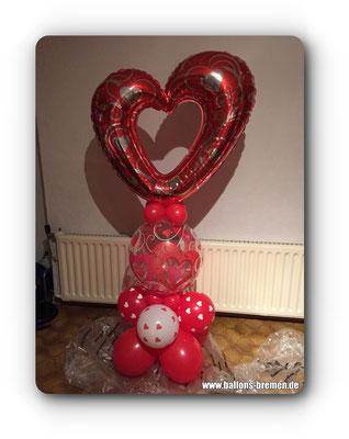 Großes Herz zum durchschauen aus Ballons