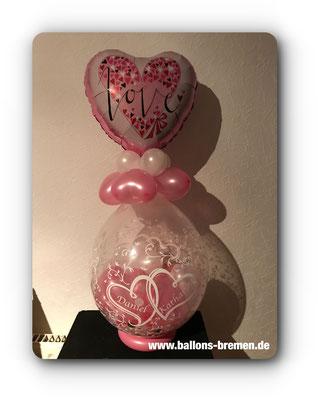 Love - der besondere Verpackungsluftballon