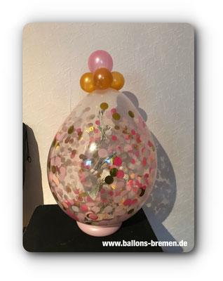 Konfettiballon zum Geburtstag mit Verpackungsballon