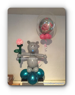 Teddybär aus Luftballons