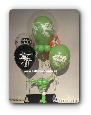 Yoda von Star Wars als Ballongeschenk mit Helium